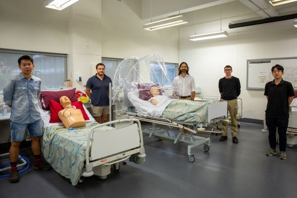 a personal ventilation hood for hospital beds