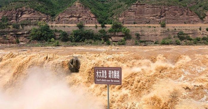 Waterfall in Yellow River Basin
